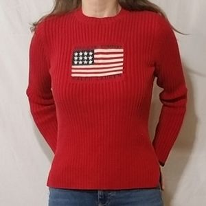 Polo Ralph Lauren red American flag sweater